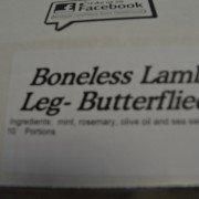 Boneless Lamb Leg - Butterflied