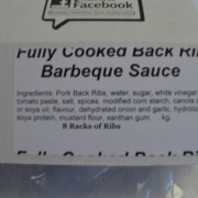 Fully Cooked Back Ribs Barbeque Sauce