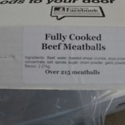 Fully Cooked Beef Meatballs